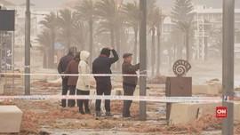 VIDEO: Badai Gloria Hantam Spanyol, Dua Orang tewas
