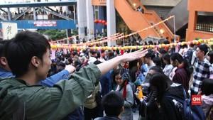 VIDEO: Dekorasi Imlek Bertema Protes di Hong Kong