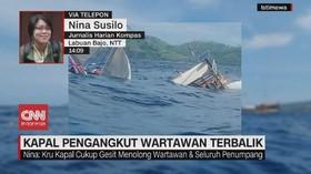VIDEO: Kapal Pengangkut Wartawan Terbalik di Labuan Bajo