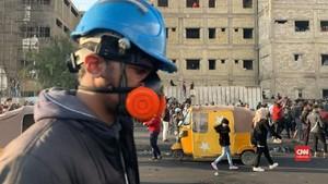 VIDEO: Tiga Demonstran Irak Tewas Dalam Bentrokan