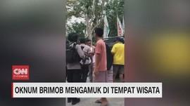 VIDEO: Oknum Brimob Mengamuk di Tempat Wisata