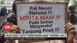 VIDEO: Warga Tanjung Priok Tuntut Yasonna Laoly Minta Maaf