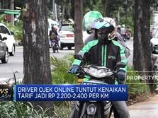 Driver Ojol Tuntut Tarif Naik Jadi Rp 2.200 - 2.400 Per KM