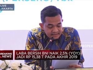 Kinerja 2019, Laba Bersih BNI Naik 2,5% Jadi Rp 15,38 Triliun