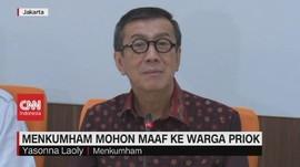 VIDEO: Menkumham Mohon Maaf ke Warga Priok