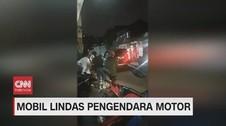 VIDEO: Diadang, Mobil Kabur Senggol Pengendara Motor