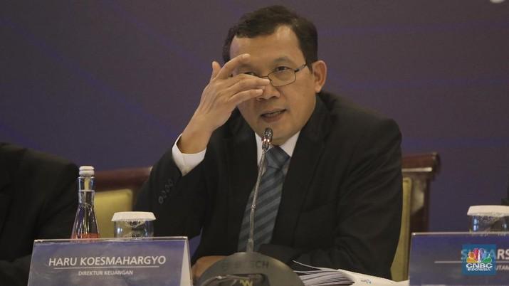 Direktur Keuangan, Haru Koesmahargyo. (CNBC Indonesia/Andrean Kristianto)