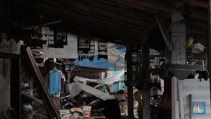 Senyum dan Harapan Para Bocah di Kampung Pemulung. (CNBC Indonesia/Muhammad Sabki)