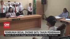 VIDEO: Pembunuh Begal Divonis 1 Tahun Pembinaan