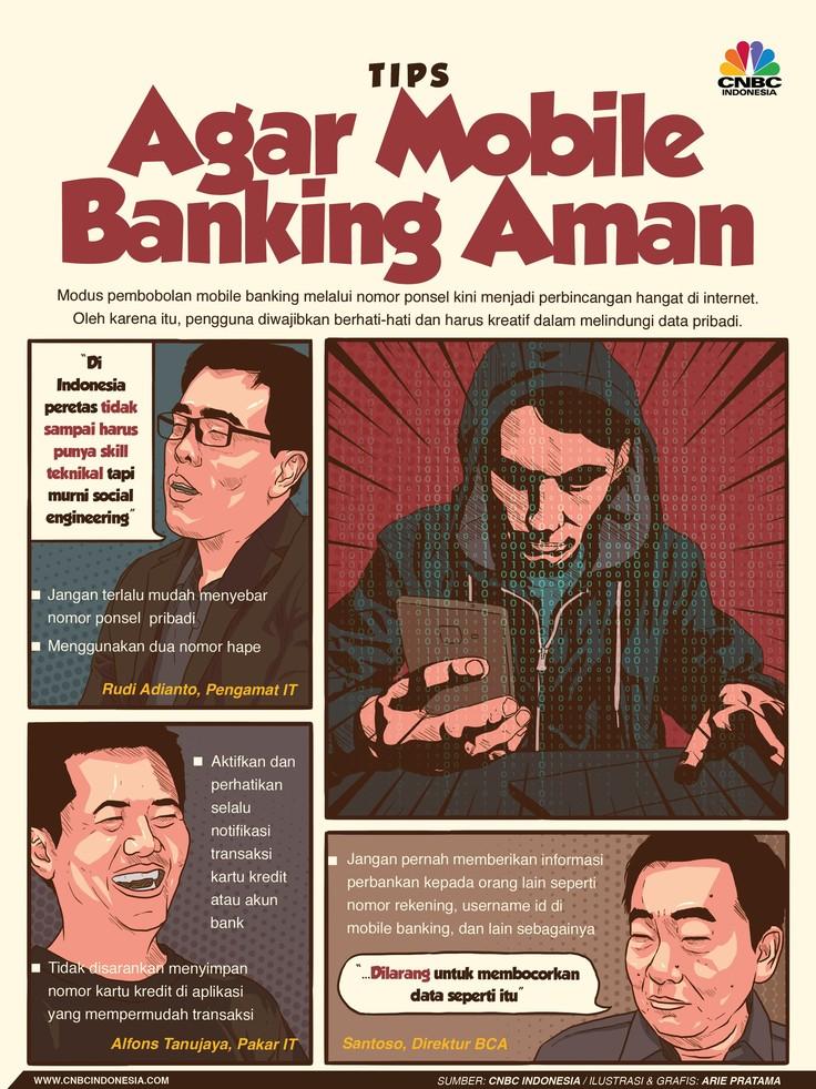 Mobile banking kini menjadi layanan perbankan yang banyak digunakan masyarakat tetapi ada ancaman serius berupa pembobolan rekening bank melalui ponsel.