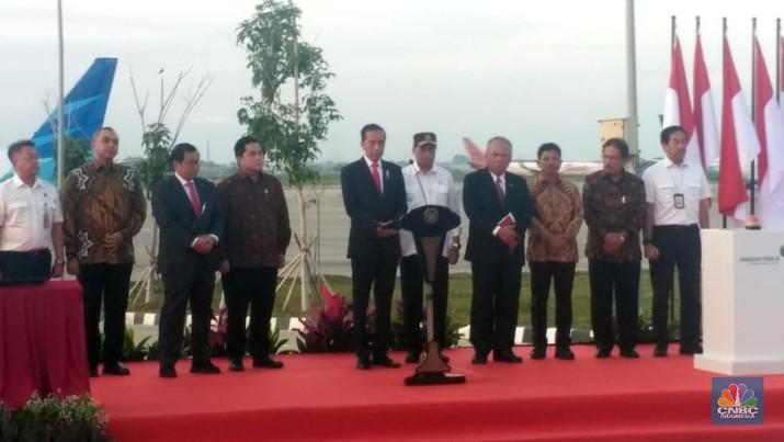 Presiden Joko Widodo (Jokowi) telah meresmikan berbagai fasilitas di Bandara Internasional Soekarno-Hatta