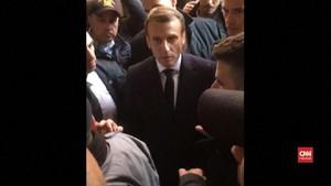 VIDEO: Macron Marah Aparat Israel Masuk ke Gereja Santa Ana