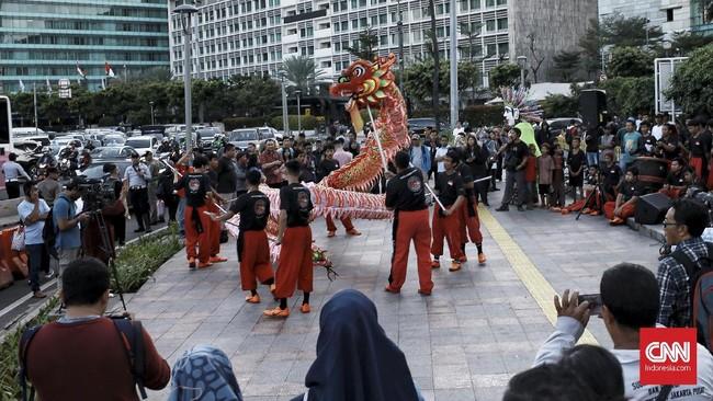 Selain Liong, juga akan ada atraksi kebudayaan lain, seperti wayang kulit Cina Jawa dan Gambang Kromong. (CNN Indonesia/Andry Novelino)