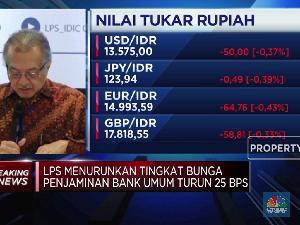 LPS Turunkan Suku Bunga Penjaminan Rupiah 25bps Jadi 6%