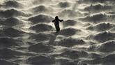 Seorang atlet ski berlatih di puncak Calabogie di Ontario menjelang kejuaran Piala Kanada. (Sean Kilpatrick/The Canadian Press via AP)