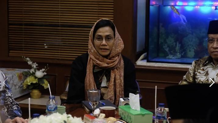 Sri Mulyani Sowan ke Kantor PBNU. (Facebook: Sri Mulyani Indrawati)