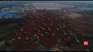 VIDEO: Hadapi Virus Corona, China Bangun Rumah Sakit