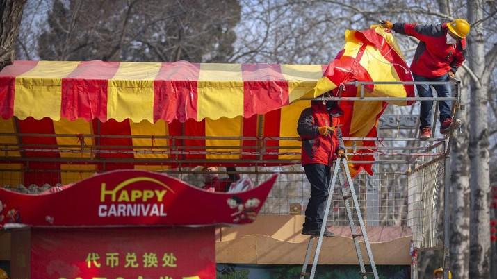 Suasana imlek di China untuk tahun ini berbeda, sejumlah fasilitas publik ditutup dengan alasan kesehatan akibat virus corona