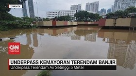 VIDEO: Underpass Kemayoran Terendam Banjir