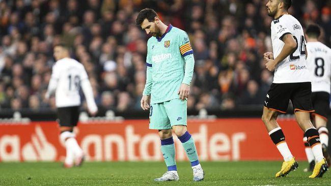 Barcelona Kalah, Messi Catat Rekor Buruk