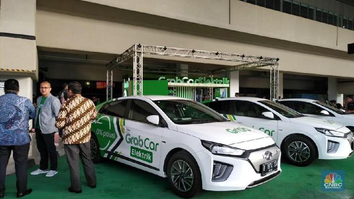 Grab resmi menggunakan GrabCar Electric di Terminal 3 Bandara Internasional Soekarno Hatta.