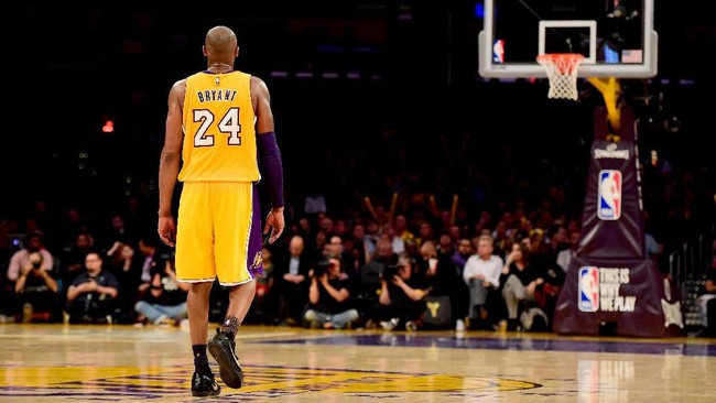 Kobe Bryant memutuskan pensiun di akhir musim 2015/2016. (Harry How/Getty Images/AFP)