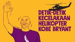 INFOGRAFIS: Detik-detik Kecelakaan Helikopter Kobe Bryant