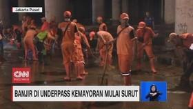 VIDEO: Banjir di Underpass Kemayoran Mulai Surut