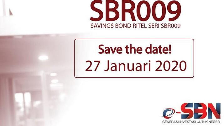 Direktorat Jenderal Pengelolaan Pembiayaan dan Risiko Kementerian Keuangan sedang menawarkan Saving Bond Retail (SBR) Seri 009.