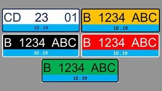Biaya Pelat Kendaraan Listrik Biru yang Berlaku 8 Januari