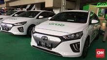Taksi Listrik Grab Resmi Beroperasi di Bandara Soeta