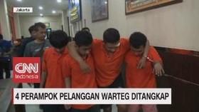 VIDEO: Keempat Begal Warteg Berhasil DIbekuk Polisi