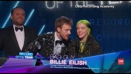 VIDEO: Kemenangan Besar Billie Eillish di Grammy Awards 2020