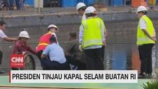 VIDEO: Presiden Jokowi Jajal Kapal Selam Buatan RI