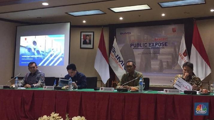 Erick Thohir mengklarifikasi terkait nilai restrukturisasi utang PT Krakatau Steel Tbk (KRAS) yang nilainya hanya US$ 2 miliar