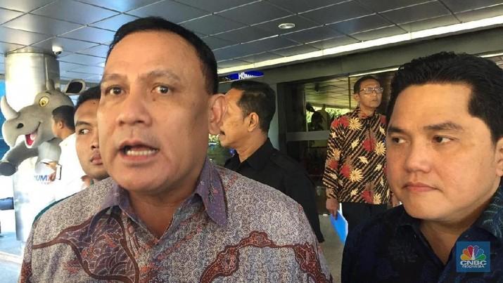 Menteri BUMN Erick Thohir melakukan pertemuan dengan Komisi Pemberantasan Korupsi (KPK).