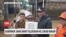 VIDEO: Ridwan Kamil dan Wagub Jabar Blusukan ke Lokasi Banjir