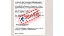 Daftar 19 Hoaks Virus Corona
