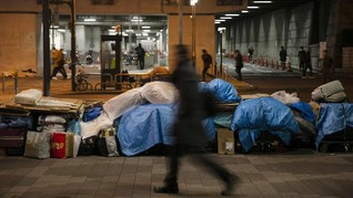 FOTO: Ancaman Penggusuran Tunawisma Jelang Olimpiade Tokyo