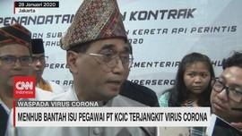 VIDEO: Menhub Bantah Isu Pegawai PT. KCIC Terjangkit Corona