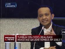 BKPM: Realisasi Investasi 2019 Lebih Dari Rp 800 Triliun