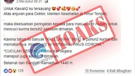 Polri Tangani 70 Kasus Penyebaran Hoaks Soal Virus Corona