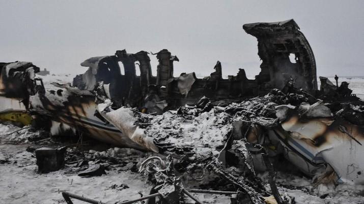 Hangus Terbakar, Ini Kondisi Pesawat AS Jatuh di Afghanistan