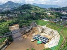 Jokowi Pamerkan Proyek Terowongan Anti-Banjir Bandung