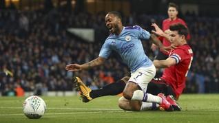 Hasil Piala Liga Inggris: MU Menang 1-0, Man City ke Final