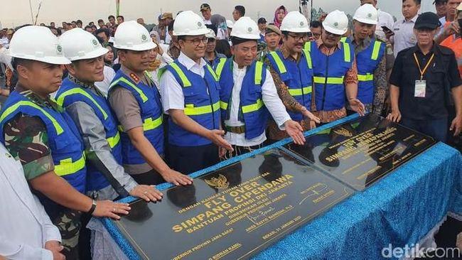 CPDW Jakarta & Bekasi Makin Mesra, Anies-Pepen Resmikan Flyover