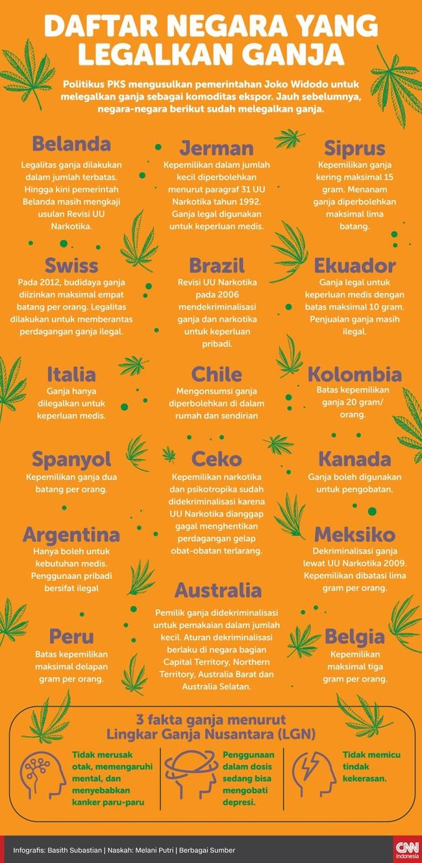 INFOGRAFIS: Daftar Negara yang Legalkan Ganja