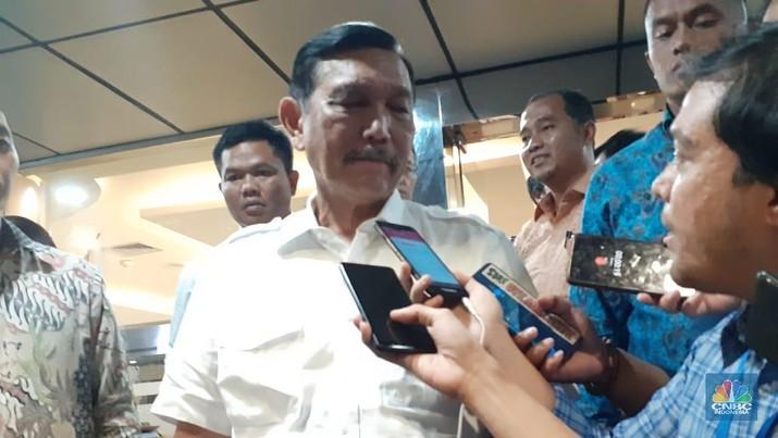 Menko Kemaritiman dan Investasi Luhut Binsar Pandjaitan. (CNBC Indonesia/Anisatul Umah)