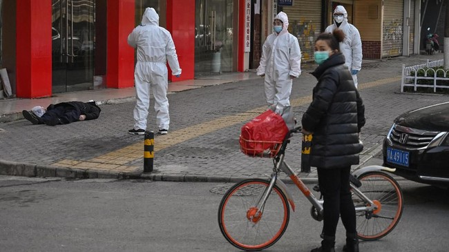 Organisasi Kesehatan Dunia (WHO) menyatakan wabah virus corona sebagai darurat kesehatan global.(Photo by Hector RETAMAL / AFP)