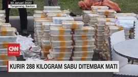 VIDEO: Kurir 288 Kilogram Sabu Ditembak Mati